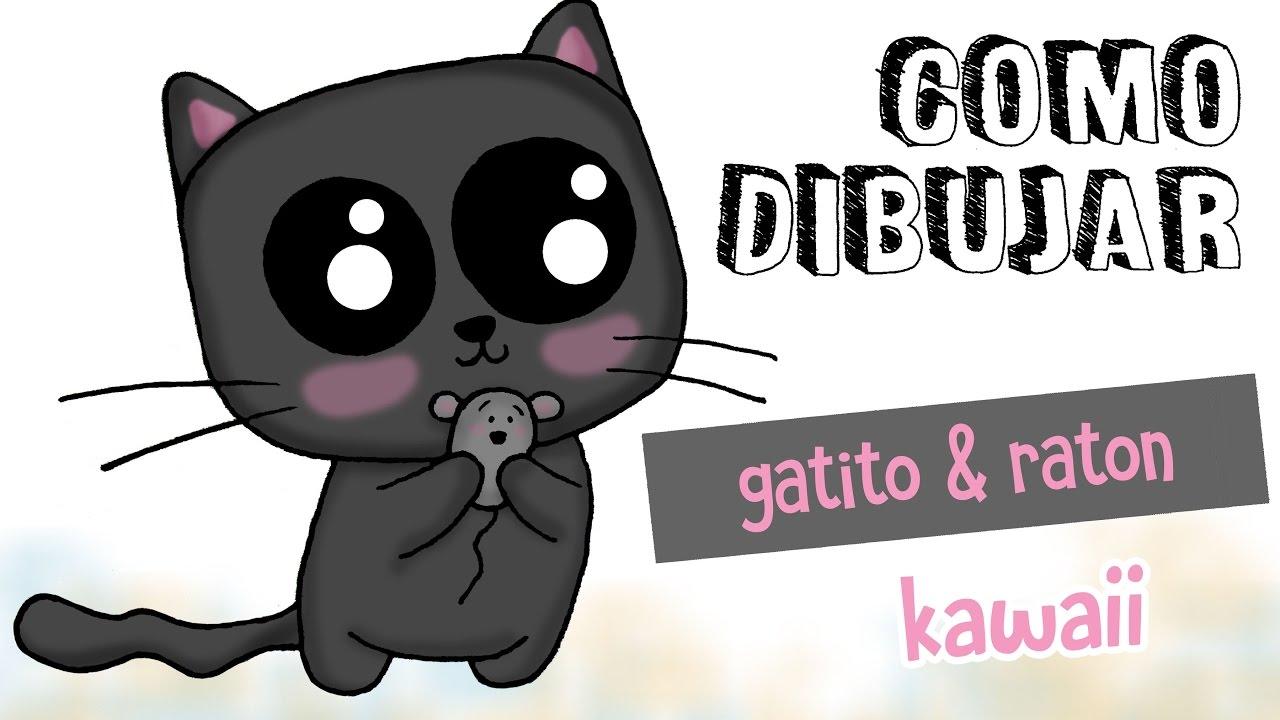 Como Dibujar Gatito Kawaii / Dibujo Fácil Para Niños