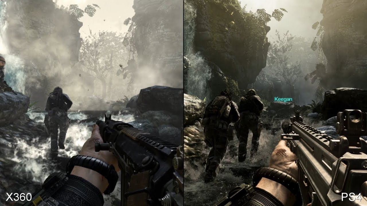 Call of Duty Ghosts: Xbox 360 vs. PS4 Comparison - YouTube