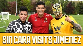 MEXICAN WWE SUPERSTAR SIN CARA VISITS RAUL JIMENEZ! (FT CLINICA DE FUTBOL)