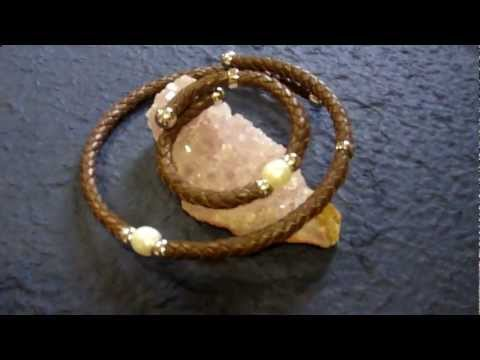 Silver and Leather Necklet and Bracelet set with Pearl, WTG Henderson, Jeweller, Perth, Scotland.mp4