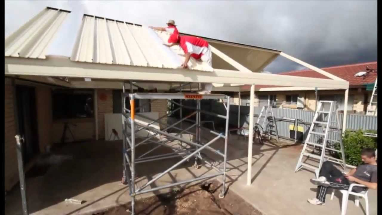 stratco outback gable clearspan veranda patio carport how to installation youtube