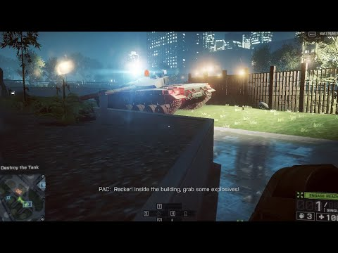 Battlefield 4 Game play- Destroy Tank Mission (Shanghai)