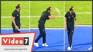سيد عبد الحفبظ ينفعل بشدة بعد استمرار تساقط لاعبى نصر حسين داي
