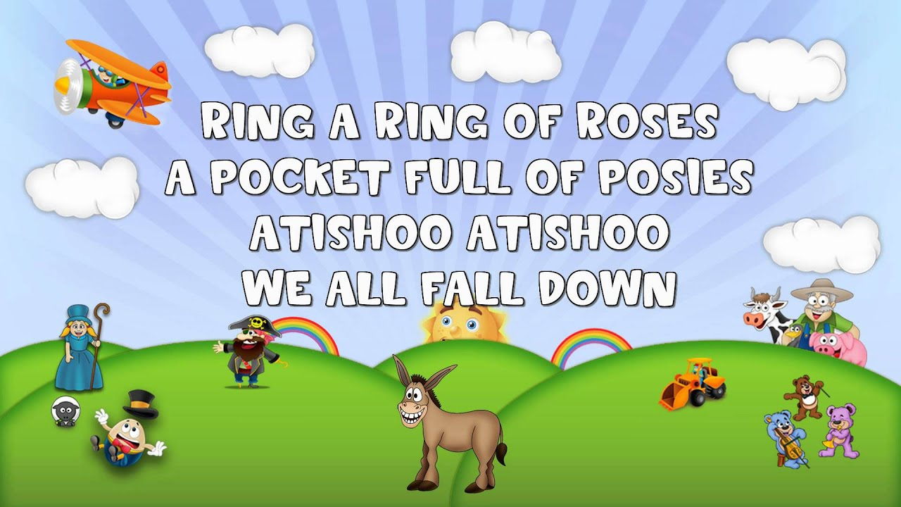 Ring a ring a rosie nursery rhyme lyrics