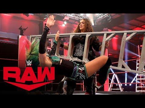 Nia Jax bulldozes over Asuka & Shayna Baszler with a ladder: Raw, April 27, 2020