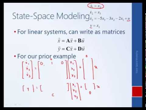 System Dynamics and Control: Module 27a - Introduction to State-Space Modeling