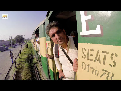 Pakistani Train - Jhelum Railway Station   4K video
