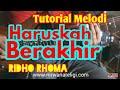 Lagu HARUSKAH BERAKHIR Video Cover Tutorial Melodi Dangdut Termudah