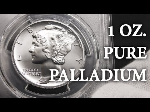 2017 Palladium Eagle - PCGS MS70 - Unboxing, 1 oz. Palladium Coin