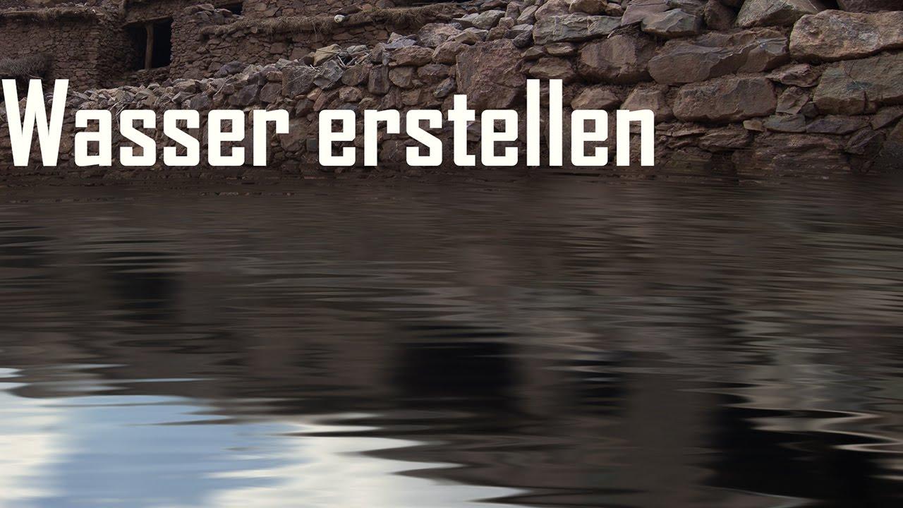 Wasser erstellen in Photoshop Landschaften künstlich Fluten (Tutorial) YouTube ~ 01000848_Sukkulenten Ableger In Wasser