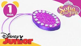 Sofia the First | Craft Tutorial: Sofia's Amulet | Disney Junior UK