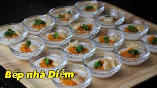 Bánh Bèo Huế - Hue steamed rice cake - Cách làm bánh bèo bằng gạo xay thật ngon   Bếp Nhà Diễm  