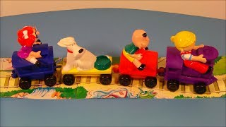 1997 DAIRY QUEEN DENNIS THE MENACE ROLLING TRAIN SET OF 4 KID