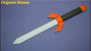 как сделать кинжал Сай из бумаги. DIY. Боевой нож ниндзя. knife ninja