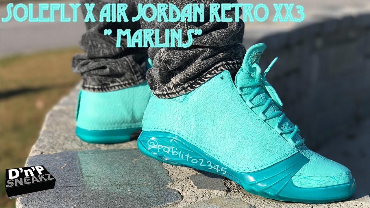 new product 6368a b9ca9 Solefly x Air Jordan XX3 Marlins On Feet