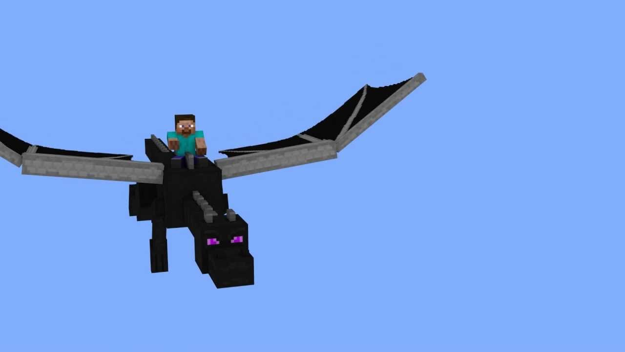 RIDING THE ENDER DRAGON IN MINECRAFT - YouTube