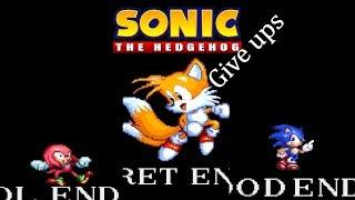 Sonic.exe Give Ups -Secret Ending Good Ending LOL Ending - Lets play