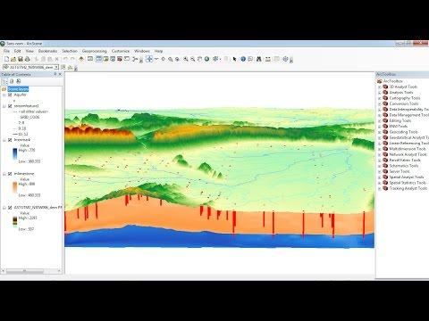 how to visualise aquifer surfaces using ArcGis/ArcScene
