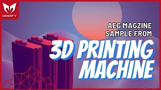 AEG MAGZINE Sample from 3D printing machine