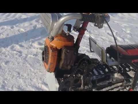 видео: снегоход из бензопилы