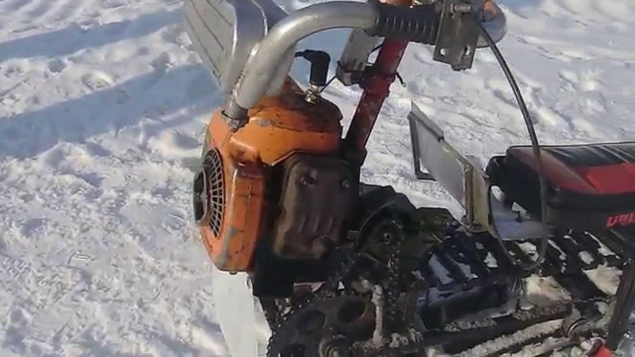 Снегоход из скутера своими руками: пошаговое описание