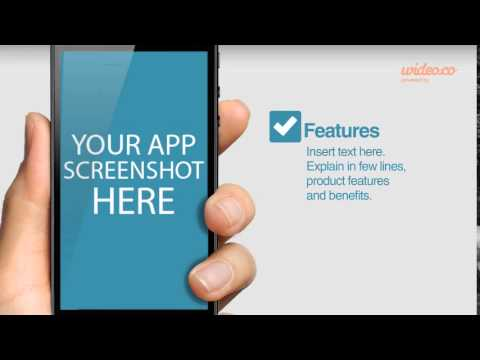 wideo template: iphone mobile app demo video - youtube, Presentation templates