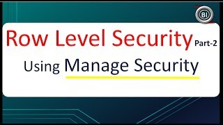Manage Security in BO Universe | Row level security Part-2