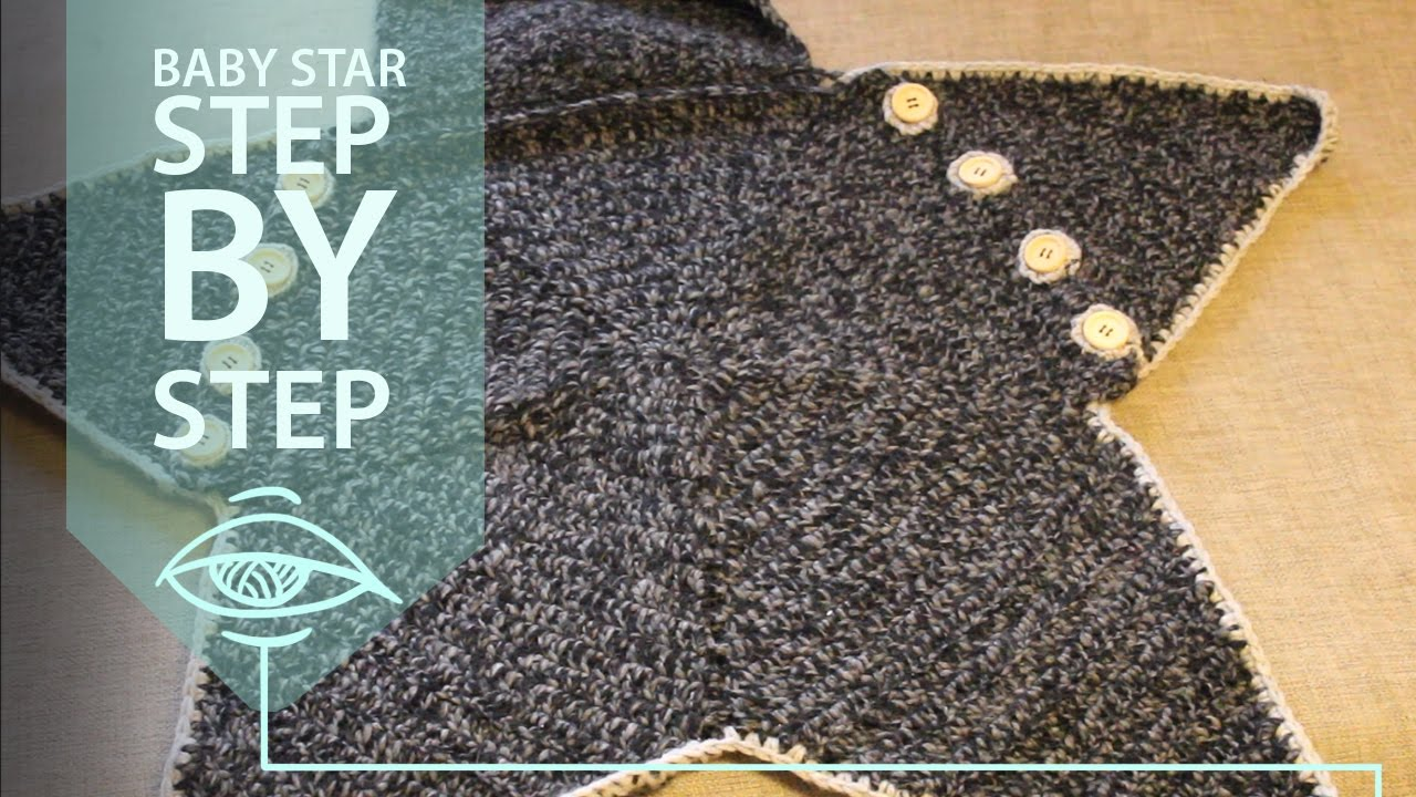 Baby bunting star step by step | crocheting it all together - YouTube