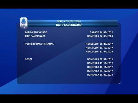 Calendario Della Serie A 2019 2020 Youtube