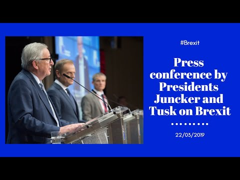 #EUCO press conference with Presidents Juncker & Tusk on Brexit