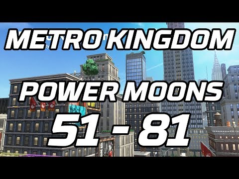 [Super Mario Odyssey] Metro Kingdom Post Game Power Moons 51 - 81 Guide