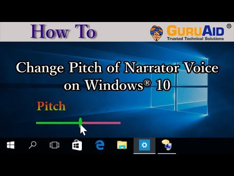 How to Change Pitch of Narrator Voice on Windows®10 - GuruAid