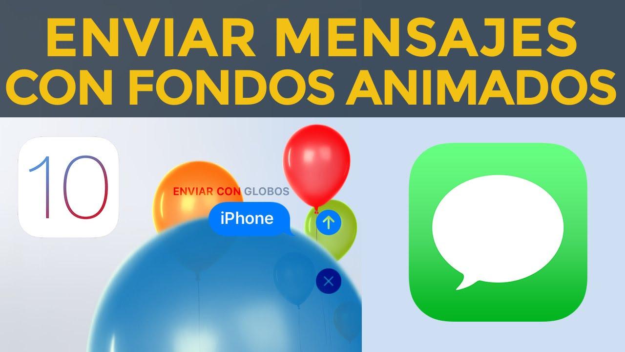 e6ea26ffb7a Envia mensajes con fondos animados en iPhone, iPad en iOS 10 iMessage  globos, confeti, laser - YouTube