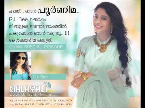 Poornima with RJ Bee on Malayali FM