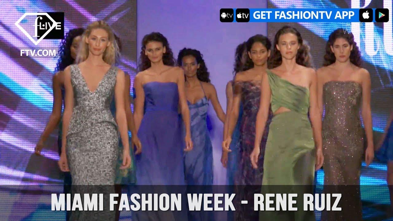 Miami Fashion Week Spring/Summer 2018 - Rene Ruiz | FashionTV - YouTube