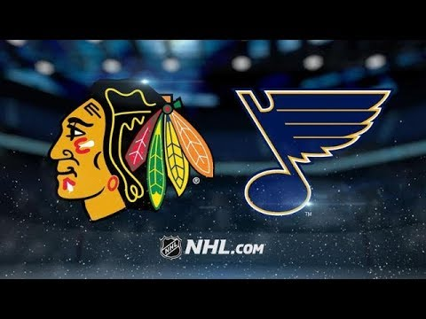 CHICAGO BLACKHAWKS VS ST LOUIS BLUES 4/4/18