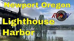 Newport Oregon Lighthouse Bad Weather