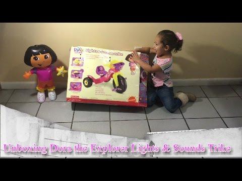 Unboxing ☆♥ Dora The Explorer Lights & Sounds Trike ☆♥