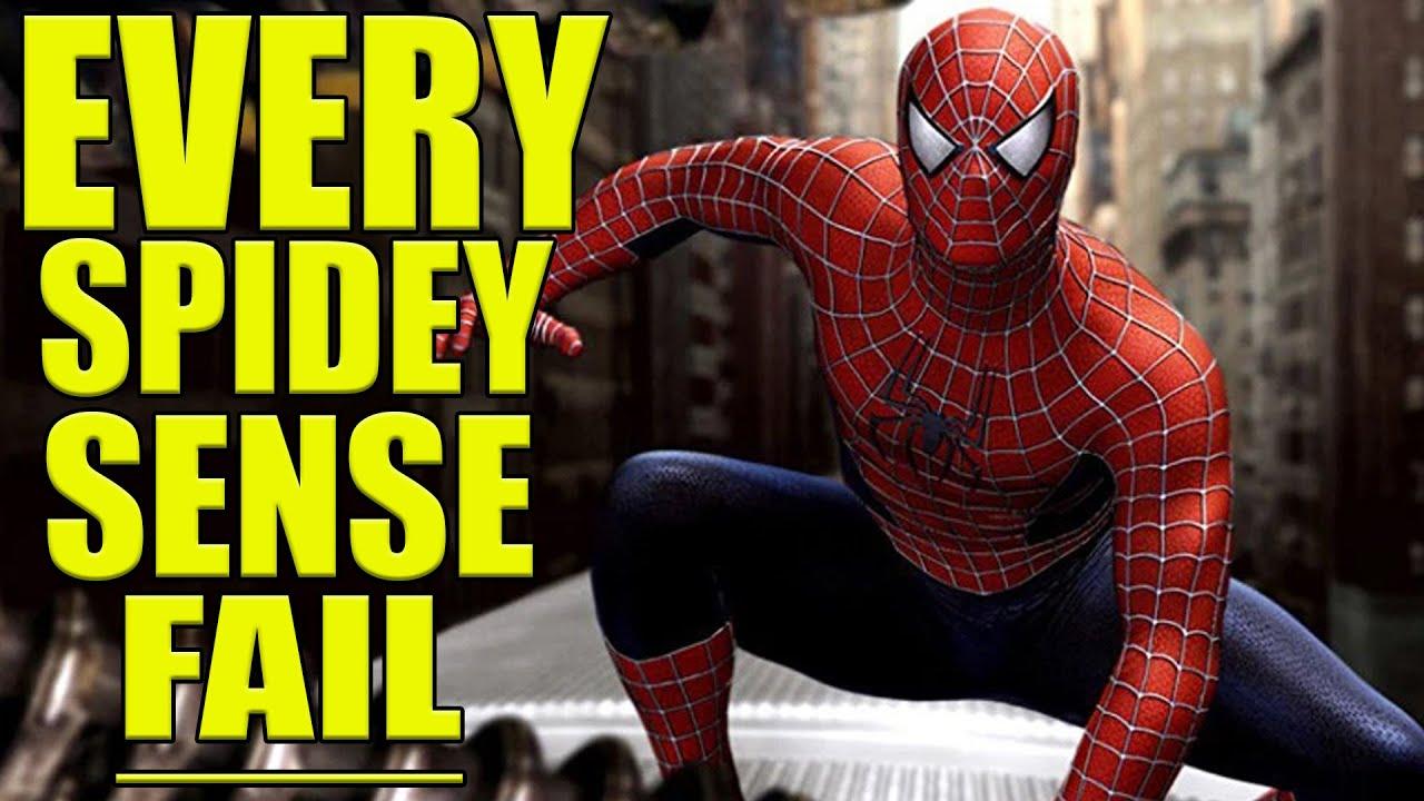 Every Time Spidey-Sense Failed Spiderman