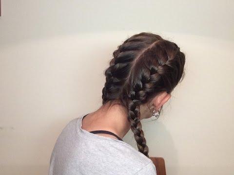 Dos trenzas de raíz a los lados / Dues trenes darrel als costats / Side french braids , YouTube