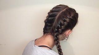 Dos trenzas de raíz a los lados / Dues trenes d'arrel als costats / Side french braids