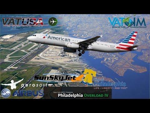 AAL Aerosoft A321 Flies KBOS To SunSkyJet KPHL On Vatsim