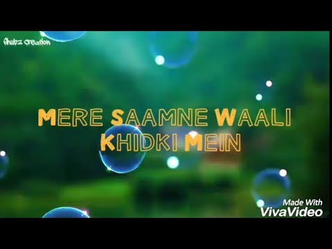 Mere Samne Wali Khidki Mein - Cover Song (lyrics) - Love Theme 2017