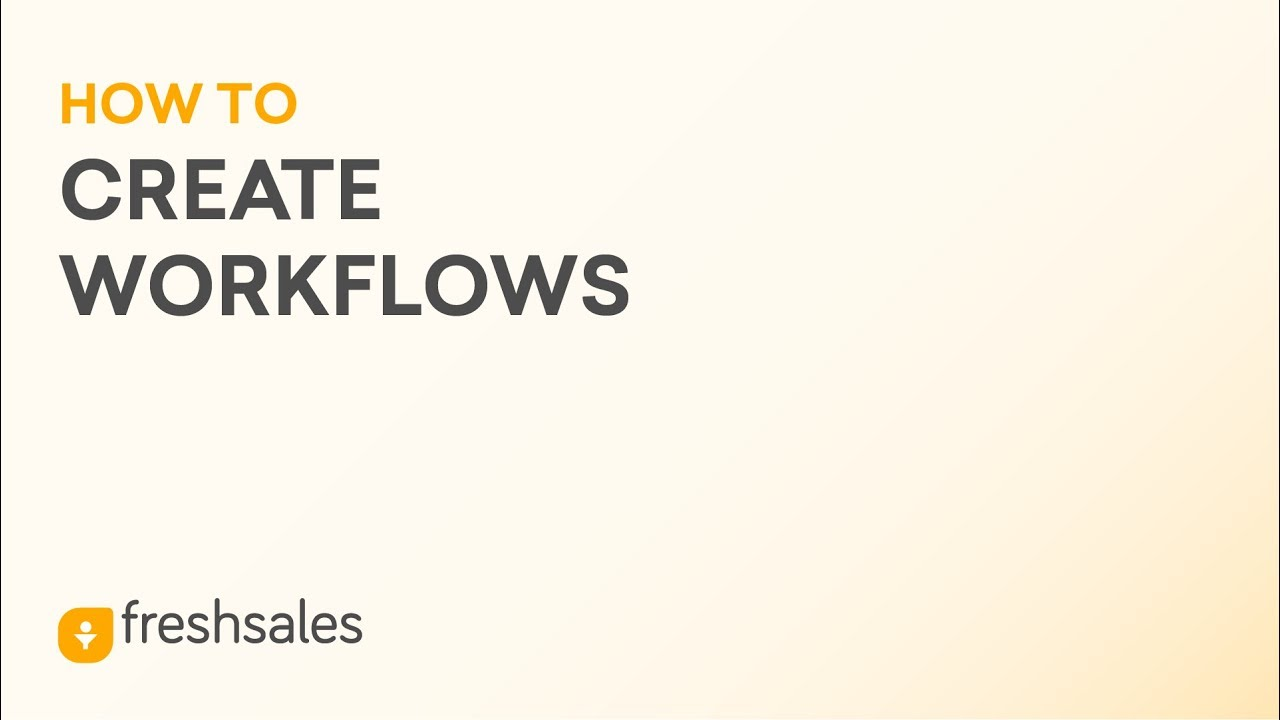How to create Workflows