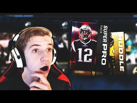 NEW SUPER PRO PACK AND HUDDLE PACK OPENING! Madden Mobile 18 Pack Opening
