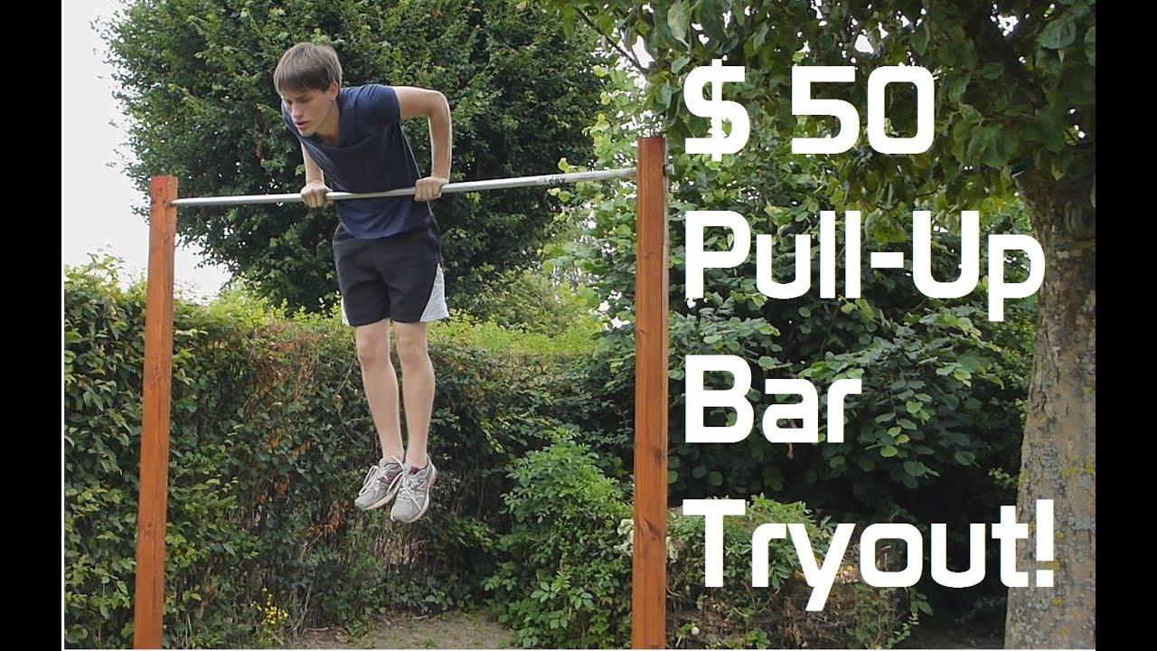 diy backyard pull up bar tryout youtube