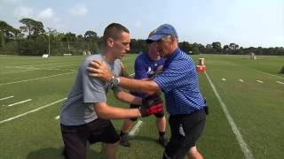 Reacting to Combo Blocks - Defensive Line Fundamentals Series by IMG Academy Football (3 of 4)