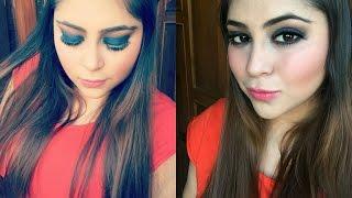 one brand makeup tutorial oriflame   blue smokey eyes makeup tutorial