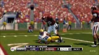 NCAA Football 14 - Alabama Crimson Tide vs. LSU Tigers Gameplay [HD]