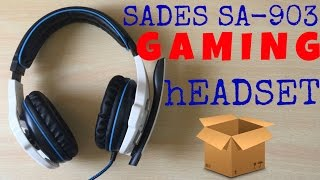 Unboxing SADES SA-903 7.1 Surround Sound USB Gaming Headset with Mic